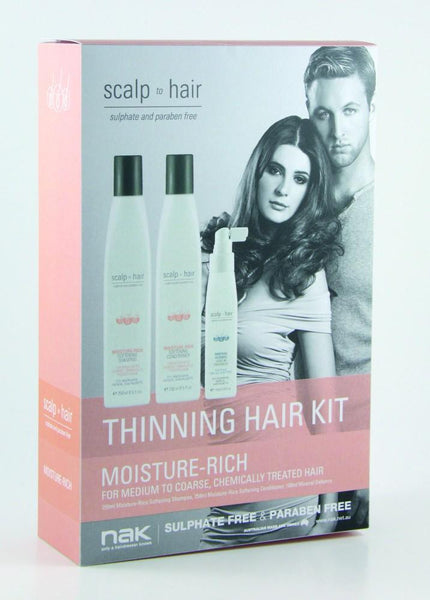 Nak Scalp Moisture Rich Thinning Kit With Mineral 100ml