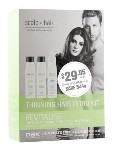 Nak Scalp Revitalise Thinning Hair Intro Kit