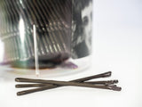 555 Matt Bobby Pins Brown