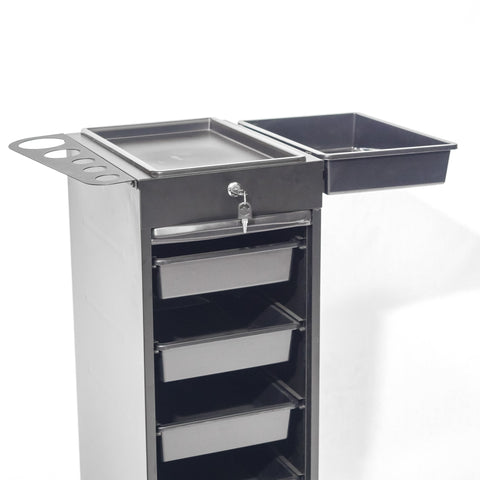 5 Tray Metal Lockable Trolley code QA0008