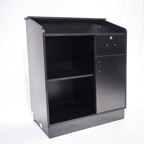Petite Reception Desk Black