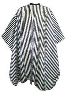 Traditional Barbers Cape Grey Pin Stripe WP3134G