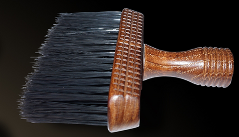 Wooden Barber Neck Brush