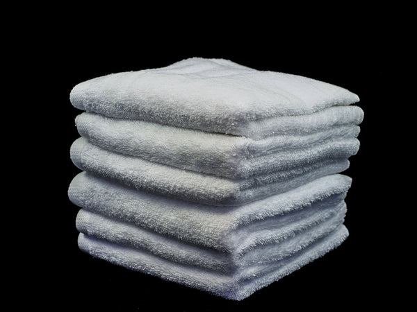 Barber Shave Towel - White (12) 72 x33cm