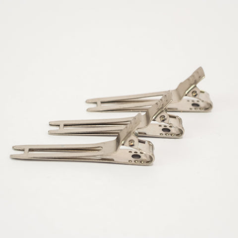 Metal 2-Prong Clip Silver 100 Pieces code 2507