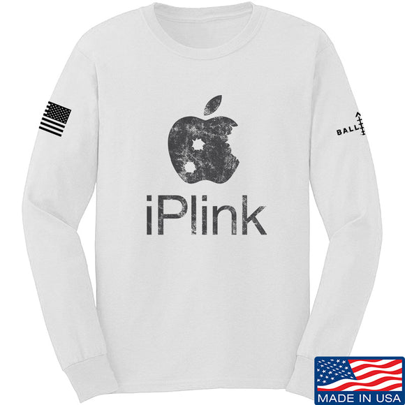 22plinkster iPlink Long Sleeve T-Shirt Long Sleeve Small / White by Ballistic Ink - Made in America USA