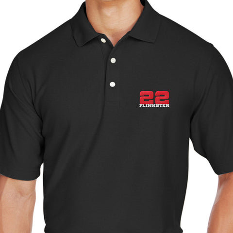 22plinkster 22plinkster Logo Polo Polos [variant_title] by Ballistic Ink - Made in America USA
