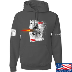 22plinkster Aces Wild Hoodie Hoodies Small / Charcoal by Ballistic Ink - Made in America USA