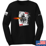 22plinkster Aces Wild Long Sleeve T-Shirt Long Sleeve Small / Black by Ballistic Ink - Made in America USA