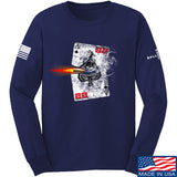 22plinkster Aces Wild Long Sleeve T-Shirt Long Sleeve Small / Navy by Ballistic Ink - Made in America USA