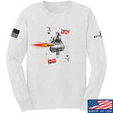 22plinkster Aces Wild Long Sleeve T-Shirt Long Sleeve Small / White by Ballistic Ink - Made in America USA