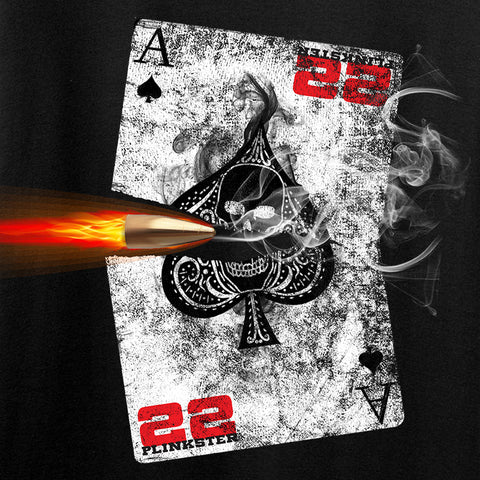 22plinkster Aces Wild Long Sleeve T-Shirt Long Sleeve [variant_title] by Ballistic Ink - Made in America USA