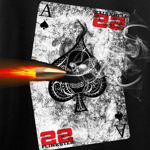 22plinkster Ladies Aces Wild V-Neck T-Shirts, V-Neck [variant_title] by Ballistic Ink - Made in America USA