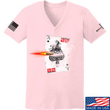 22plinkster Ladies Aces Wild V-Neck T-Shirts, V-Neck SMALL / Light Pink by Ballistic Ink - Made in America USA