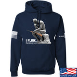 22plinkster I Plink, Therefore I Am Hoodie Hoodies Small / Navy by Ballistic Ink - Made in America USA