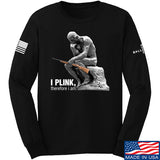 22plinkster I Plink, Therefore I Am Long Sleeve T-Shirt Long Sleeve Small / Black by Ballistic Ink - Made in America USA