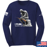 22plinkster I Plink, Therefore I Am Long Sleeve T-Shirt Long Sleeve Small / Navy by Ballistic Ink - Made in America USA