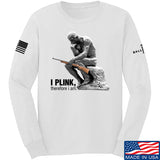 22plinkster I Plink, Therefore I Am Long Sleeve T-Shirt Long Sleeve Small / White by Ballistic Ink - Made in America USA