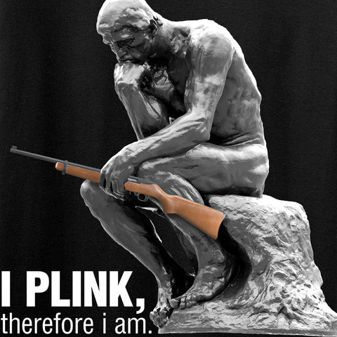 22plinkster I Plink, Therefore I Am Tank Tanks [variant_title] by Ballistic Ink - Made in America USA