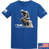 22plinkster I Plink, Therefore I Am T-Shirt T-Shirts Small / Blue by Ballistic Ink - Made in America USA