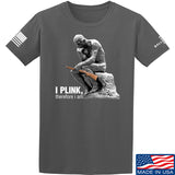 22plinkster I Plink, Therefore I Am T-Shirt T-Shirts Small / Charcoal by Ballistic Ink - Made in America USA