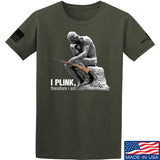 22plinkster I Plink, Therefore I Am T-Shirt T-Shirts Small / Military Green by Ballistic Ink - Made in America USA