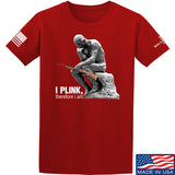 22plinkster I Plink, Therefore I Am T-Shirt T-Shirts Small / Red by Ballistic Ink - Made in America USA