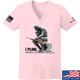 22plinkster Ladies I Plink, Therefore I Am V-Neck T-Shirts, V-Neck SMALL / Light Pink by Ballistic Ink - Made in America USA