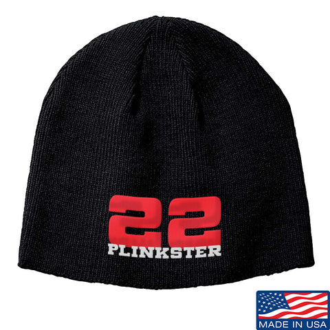 22plinkster 22plinkster Logo Beanie Headwear Black by Ballistic Ink - Made in America USA