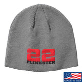 22plinkster 22plinkster Logo Beanie Headwear Grey by Ballistic Ink - Made in America USA