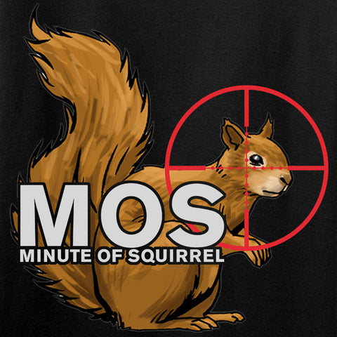 22plinkster Minute of Squirrel T-Shirt T-Shirts [variant_title] by Ballistic Ink - Made in America USA