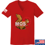 22plinkster Ladies Minute of Squirrel V-Neck T-Shirts, V-Neck SMALL / Red by Ballistic Ink - Made in America USA