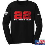 22plinkster 22plinkster Logo Long Sleeve T-Shirt Long Sleeve Small / Black by Ballistic Ink - Made in America USA