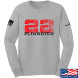 22plinkster 22plinkster Logo Long Sleeve T-Shirt Long Sleeve Small / Light Grey by Ballistic Ink - Made in America USA