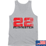 22plinkster 22plinkster Logo Tank Tanks SMALL / Light Grey by Ballistic Ink - Made in America USA