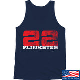 22plinkster 22plinkster Logo Tank Tanks SMALL / Navy by Ballistic Ink - Made in America USA