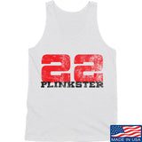 22plinkster 22plinkster Logo Tank Tanks SMALL / White by Ballistic Ink - Made in America USA