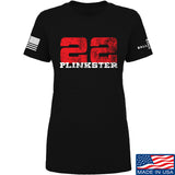 22plinkster Ladies 22plinkster Logo T-Shirt T-Shirts SMALL / Black by Ballistic Ink - Made in America USA