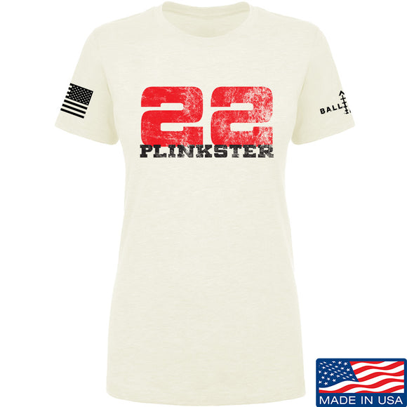 22plinkster Ladies 22plinkster Logo T-Shirt T-Shirts SMALL / Cream by Ballistic Ink - Made in America USA