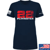 22plinkster Ladies 22plinkster Logo T-Shirt T-Shirts SMALL / Navy by Ballistic Ink - Made in America USA