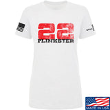22plinkster Ladies 22plinkster Logo T-Shirt T-Shirts SMALL / White by Ballistic Ink - Made in America USA