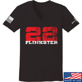 22plinkster Ladies 22plinkster Logo V-Neck T-Shirts, V-Neck SMALL / Black by Ballistic Ink - Made in America USA