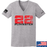 22plinkster Ladies 22plinkster Logo V-Neck T-Shirts, V-Neck SMALL / Light Grey by Ballistic Ink - Made in America USA