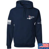 704 Tactical 704 Tactical Chest Logo Hoodie Hoodies Small / Navy by Ballistic Ink - Made in America USA