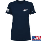 704 Tactical Ladies 704 Tactical Chest Logo T-Shirt T-Shirts SMALL / Navy by Ballistic Ink - Made in America USA