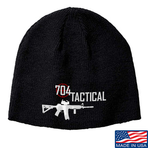 704 Tactical 704 Tactical Logo Beanie Headwear Black by Ballistic Ink - Made in America USA