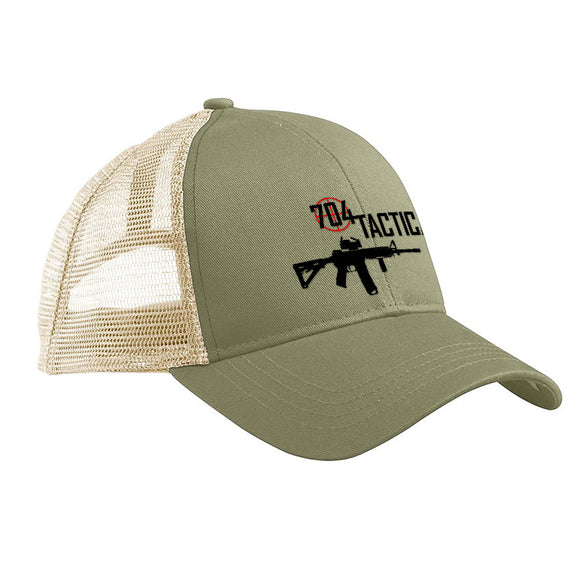 704 Tactical 704 Tactical Logo Snapback Cap Headwear Jungle/Oyster by Ballistic Ink - Made in America USA