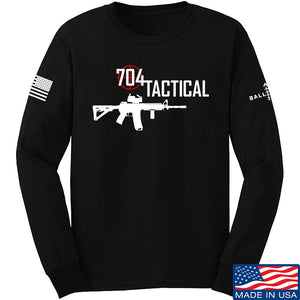 704 Tactical 704 Tactical Full Logo Long Sleeve T-Shirt Long Sleeve Small / Black by Ballistic Ink - Made in America USA