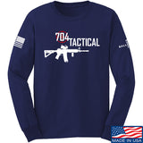 704 Tactical 704 Tactical Full Logo Long Sleeve T-Shirt Long Sleeve Small / Navy by Ballistic Ink - Made in America USA