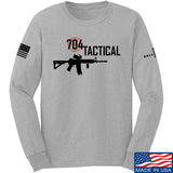 704 Tactical 704 Tactical Full Logo Long Sleeve T-Shirt Long Sleeve Small / Light Grey by Ballistic Ink - Made in America USA